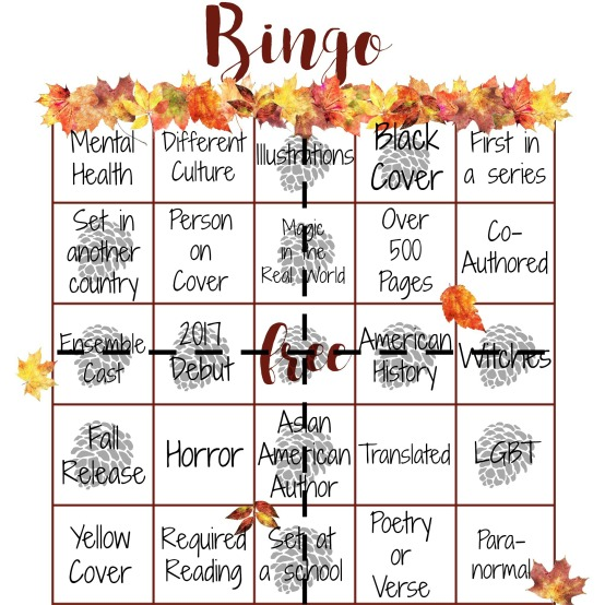 fall bingo finished